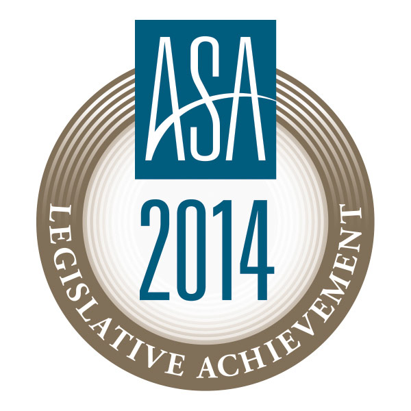 ASA 2014 Legislative Achievement Award