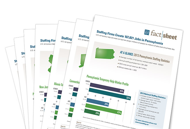 ASA State Staffing Fact Sheets