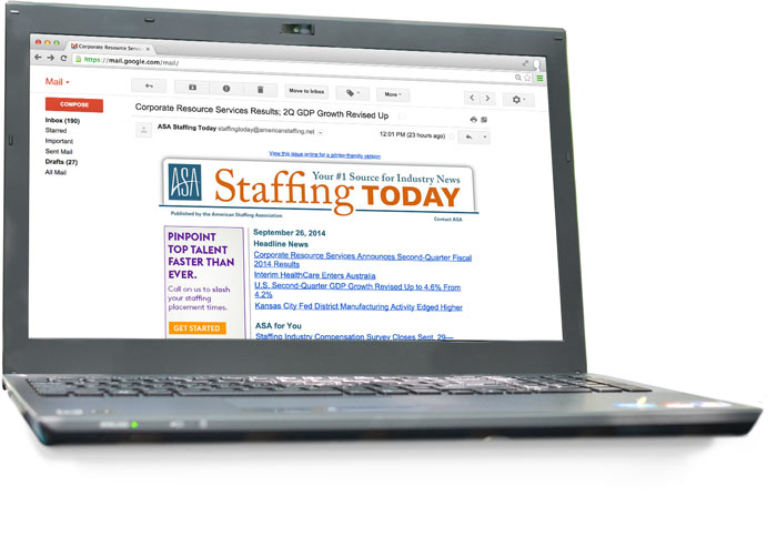 ASA Staffing Today Newsletter
