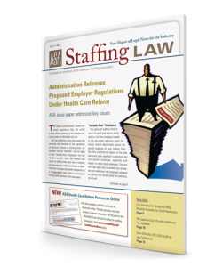 Staffing Law digest, 2013 No 1