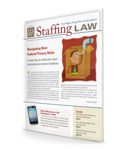 Staffing Law digest, 2014 No 1
