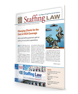 Staffing Law digest, 2014 No 3