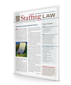 Staffing Law digest, Spring 2012