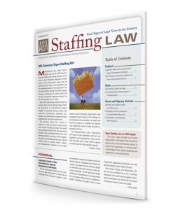 Staffing Law digest, Summer 2012