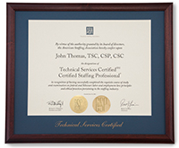 Purchase CSP, TSC, and CSC frames to display your credential(s).