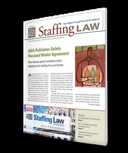 Staffing Law digest 2015, No 1