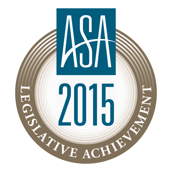 ASA 2015 Legislative Achievement Award