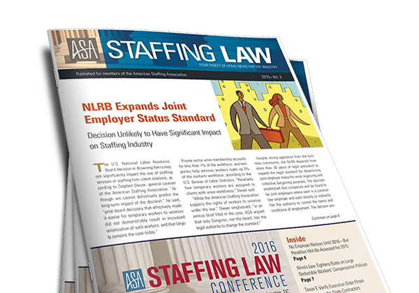 Staffing Law Digest - American Staffing Association