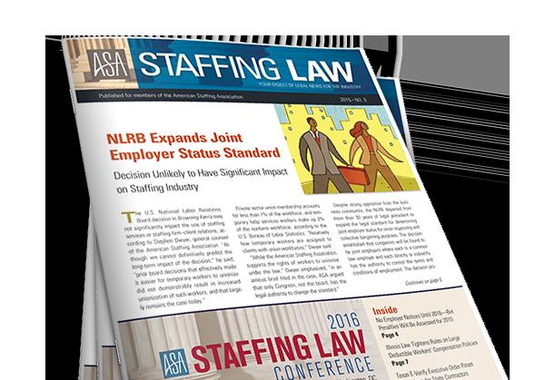 Staffing Law Digest - American Staffing Association