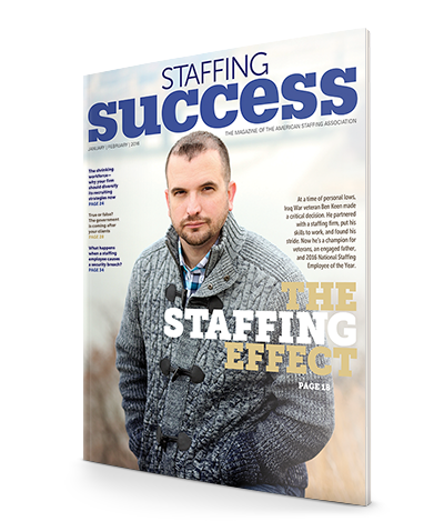 "<span class=""publication-name""><em><em>Staffing Success Magazine</em></em></span> <span class=""publication-separator"">-</span> <span class=""publication-issue"">January-February 2016</span>"