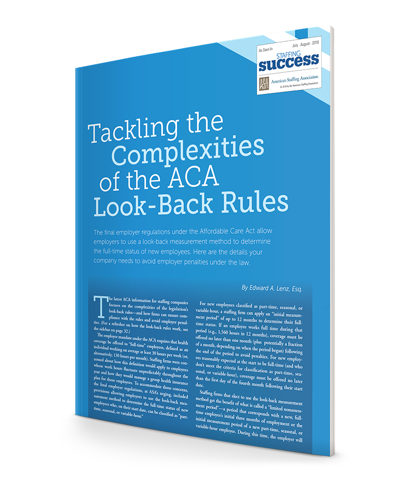 ACA Look Back Rules