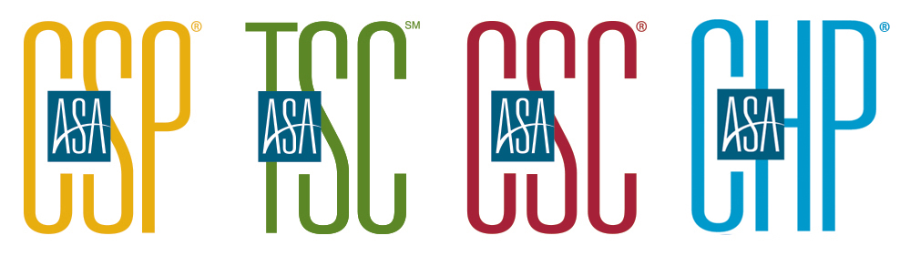 ASA Certifications: CSP, TSC, CSC, and CHP