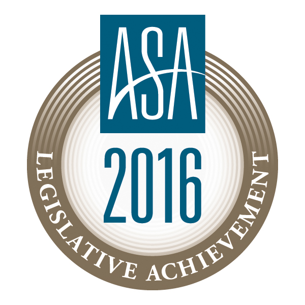 ASA 2016 Legislative Achievement Award