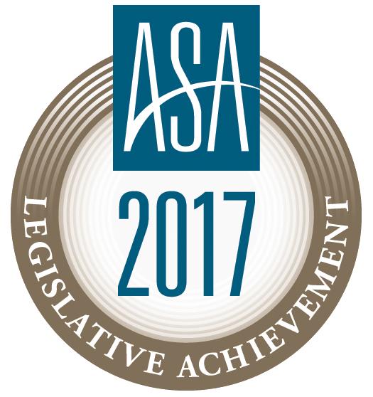 ASA 2017 Legislative Achievement Award