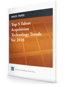 Top Five Talent Acquisition Technology Trends for 2018