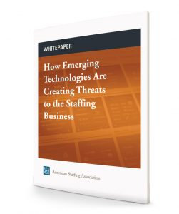 How Emerging Technologies Are Creating Threats to the Staffing Business