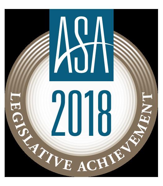 ASA 2018 Legislative Achievement Award
