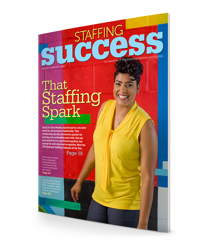 Shaya De Oleo Medina, 2019 Natinoal Staffing Employee of the Year