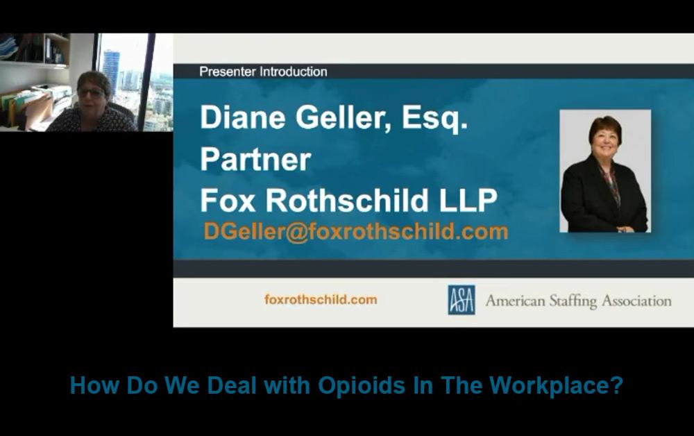 Marijuana and Opioid Use in the Workplace Webinar