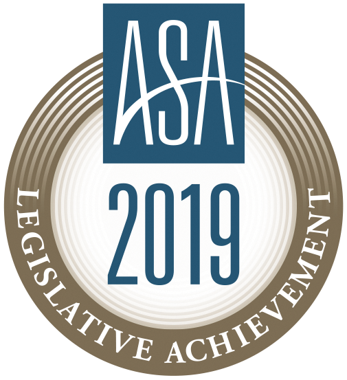 ASA 2019 Legislative Achievement Award