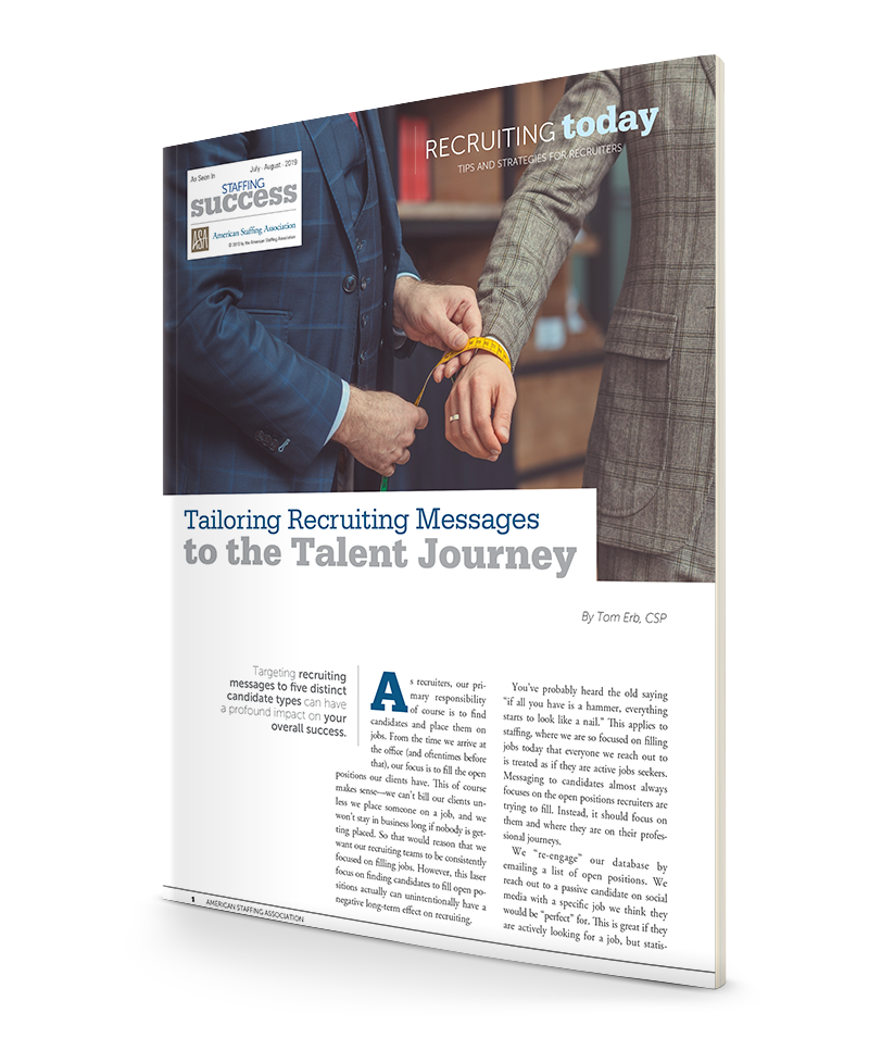 Tailoring Recruiting Messages to the Talent Journey