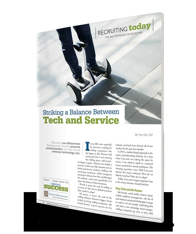 Striking a Balance Between Tech and Service