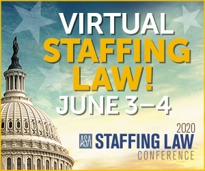 Virtual Staffing Law Conference: June 3-4 2020